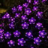 Innoo Tech Solar Flower String Lights Outdoor Fairy 50 Led Blossom Lighting for Garden,Patio,Path,Christmas,Indoor,Party-Purple