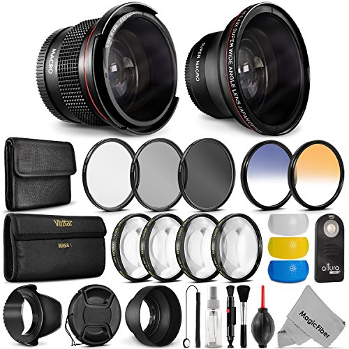 52MM Professional Accessory Kit for NIKON DSLR Bundle with Altura Photo Fisheye and Wide Angle Lenses (Nikon Super Wide Angle Lens compare prices)