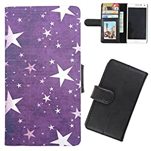 DooDa - For Samsung Galaxy S Duos S7562 PU Leather Designer Fashionable Fancy Flip Case Cover Pouch With Card, ID & Cash Slots And Smooth Inner Velvet With Strong Magnetic Lock