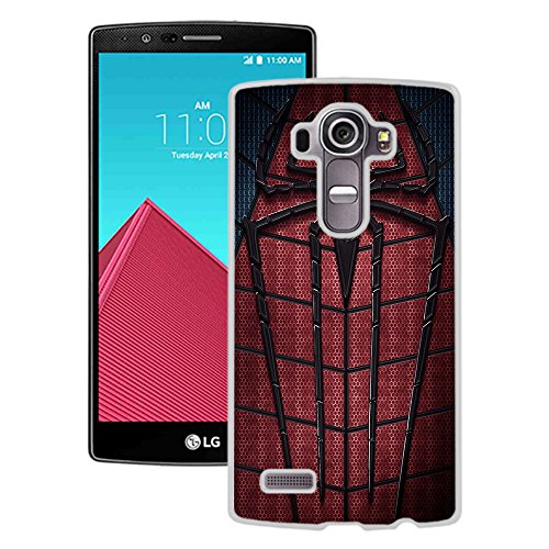 LG G4 Case,LG G4 Phone Case,The Amazing Spider Man White LG G4 Case Cover