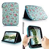 Casezilla Binatone HomeSurf 744 7 Inch Tablet Universal EVA Hard Shell Folio Case - Roses