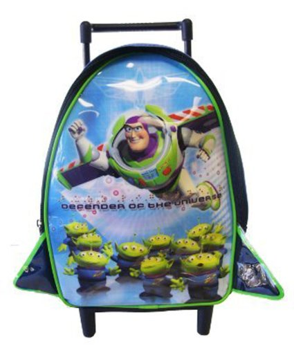 Disney Toy Story Rolling Backpack - Alien & Flying Buzz Toddler Size Wheeled Backpack