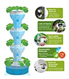 Foody 12 Hydroponic Vertical Garden: AUTOMATIC Watering & Rotation - 44 Planting Pockets - BPA Free, Food Grade & UV Resistant Tower Planter