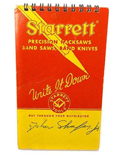 Vintage 1965 Starrett Tools Advertising Pocket Memorandum Notebook