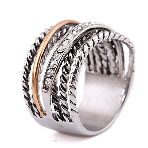 [Nachonia Jewelry Unique desingn unsex stainless steel one row crystal Ring for men and women] (Redneck Costumes For Women)