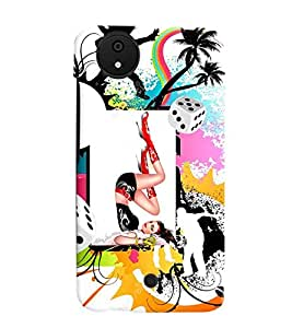 Fuson Dancing Girl Back Case Cover for MICROMAX CANVAS A1 ANDROID ONE - D4073