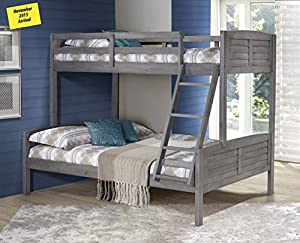 Donco Kids Twin Over Full Antique Grey Louver Bunk Bed Antique Grey