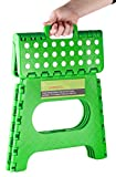 Greenco Super Strong Foldable Step Stool for Adults and Kids - 11 inches in Height, Holds up to 300 Lb, Green