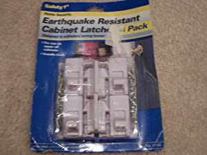 Safety 1st Earthquake Resistant Cabinet Latches (4 Pack)