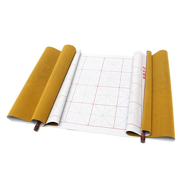 Calligraphy Paper,Reusable Chinese Magic Cloth Water Paper Calligraphy Fabric Book Notebook for Chinese Calligraphy Practice 1.5m