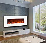 "Touchstone 50"" Ivory Electric Wall Mounted Fireplace - White"