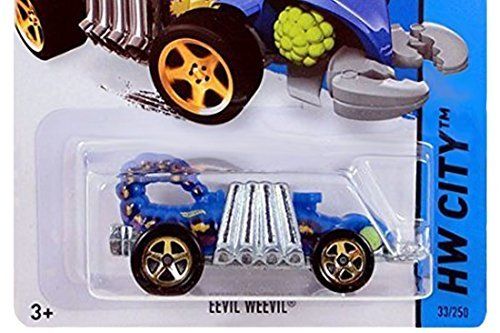 Hot Wheels, 2015 HW City, Eevil Weevil [Blue] Die-Cast Vehicle #33/250