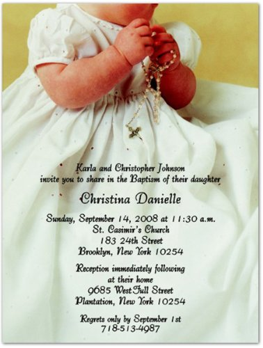 In His Love Baptism Christening Invitations - Set Of 20 front-985525