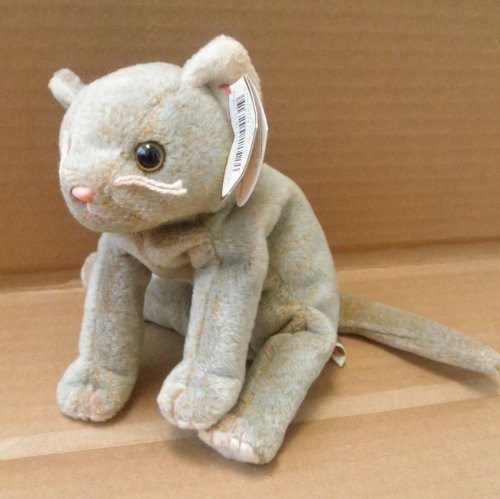 TY Beanie Babies Scat the Cat Stuffed Animal Plush Toy - 8 inches long - 1
