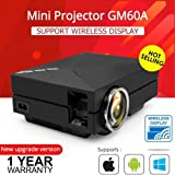 CROCON GM60A Upgrade Version WIFI projetor Wireless Built-in Diplay Mini LED Home Theater Projector HD Video Projector