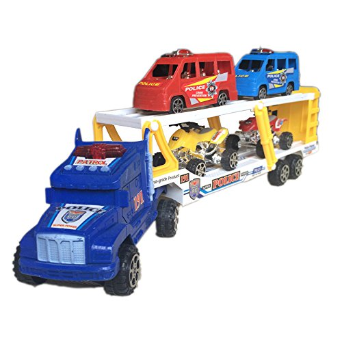 Digging Toys For Boys : Fajiabao kids truck trailer toy double decker bus with