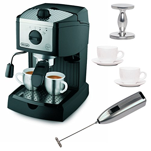 DeLonghi EC155 15 BAR Pump Espresso and Cappuccino Maker Bundle image