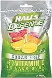 HALLS Defense Sugar-Free Supplement Drops, (Assorted Citrus, 25 Drops, 12-Pack)