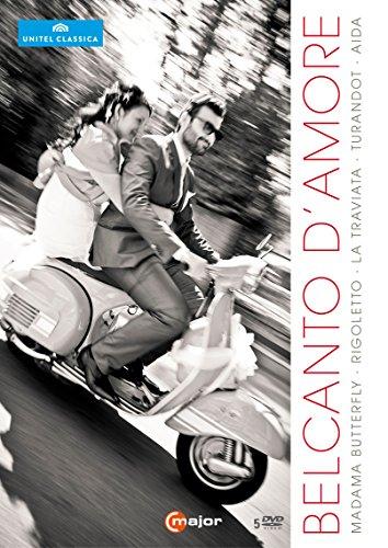 Belcanto d'Amore [5 DVDs: Madama Butterfly, Rigoletto, La Traviata, Turandot,Aida]