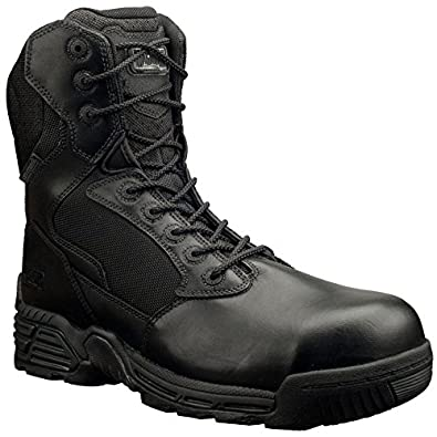 Magnum Men's Stealth Force 8.0 Side - zip Composite Toe Wpi Boots Black, BLACK, 7