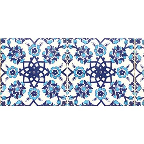 ニトムズ インテリアマスキングテープ 幅10cm×長さ8m巻き タイル/ブルー M3700