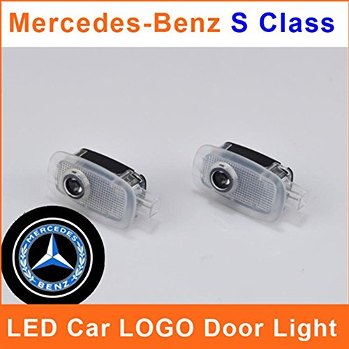 Hamist Logo Led Door Light For Mercedes-Benz S Class Emblem Badge Projector Courtesy Welcome Laser Auto Ghost Shadow Car Styling Pack Of 2