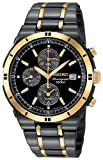 SEIKO Watches:Men's Seiko® Black Ion Chronograph Watch
