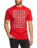Nike - Men's T-Shirt - Motif: Air Force One (AF1) 30-Year Celebration Red red Size:Large