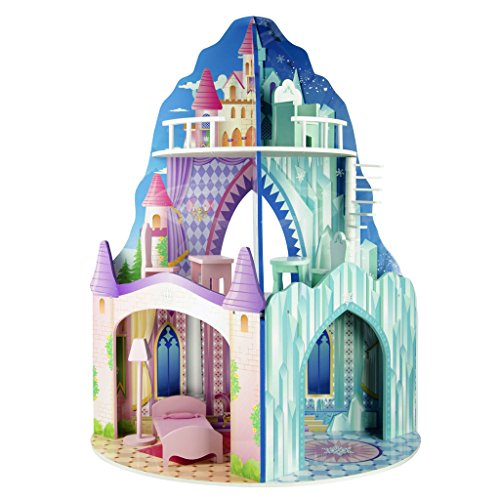 [Teamson Kids Dual Theme Dollhouse - Ice Mansion / Dream Castle] (Fire And Ice Party Costumes)
