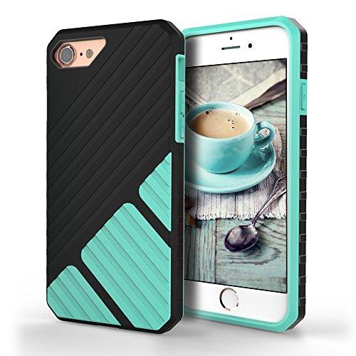 WWW iPhone7 Plus ケース アイフォン7 プラス ケース,高品質 超耐磨 TPU ソフトケース 耐衝撃ケース 軽量 手触り良い 滑り防止 携帯便利 保護カバー (ミント) [並行輸入品]