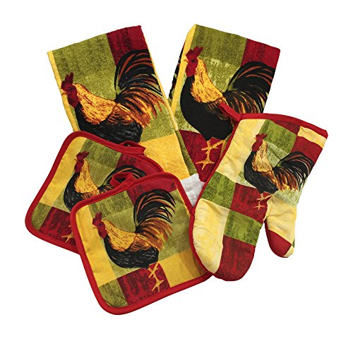 Red Rooster Kitchen Towel Set