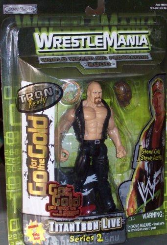 WWF 2000 WRESTLE MANIA TITANTRON LIVE SERIES 2 STONE COLD STEVE AUSTIN