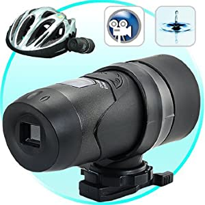 High Resolution Waterproof Sports Action Camcorder with 7 pack accessories bundle! - Helmet Mountable Action Video Camera, DVR Cam Head Camcorder. AVI Video Format, Supports up to 32GB SDHC Cards: Ideal for Skiing, Snowboarding, Rock-Climbing, Paintballing, Skydiving, Swimming, Horse riding and more!