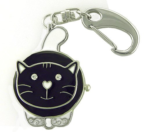 New ADORABLE Cat Keychain Watch with Necklace