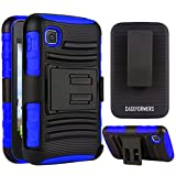 CASEFORMERS Duo Armor BLUE for LG Optimus Dynamic 2 (L39C) Combo Case with Stand and Holster by CASEFORMERS