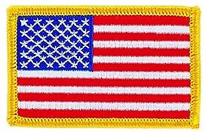 Patch écusson brodé Drapeau usa etats unis americain velcro insigne