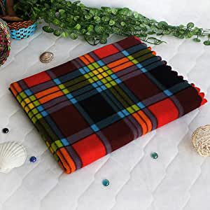 [Scotch Plaids] Coral Fleece Throw Blanket (70.9 by 86.7 inches)