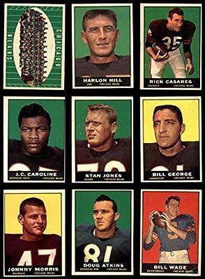 1961 Topps Chicago Bears Team Set Chicago Bears (Baseball Set) Dean's Cards 4.5 - VG/EX+