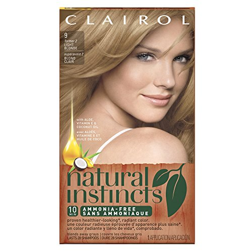 Clairol Natural Instincts, 9 / 2 Sahara Light Blonde, Semi-Permanent Hair Color, 1 Kit (Pack of 3) (Semi Hair Dye Blonde compare prices)