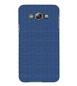 Blue Shower Pattern 3D Hard Polycarbonate Designer Back Case Cover for Samsung Galaxy E7 :: Samsung Galaxy E7 E700F (2015)