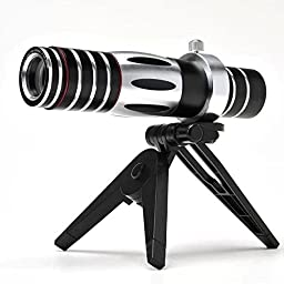 Goliton? Newest 5X - 15X Mobile Phone Optical Zoom Telescope Camera Lens with Tripod and Cover Case for iPhone 6Plus