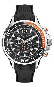 Nautica A21017G Mens NST 02 Black Chronograph Watch