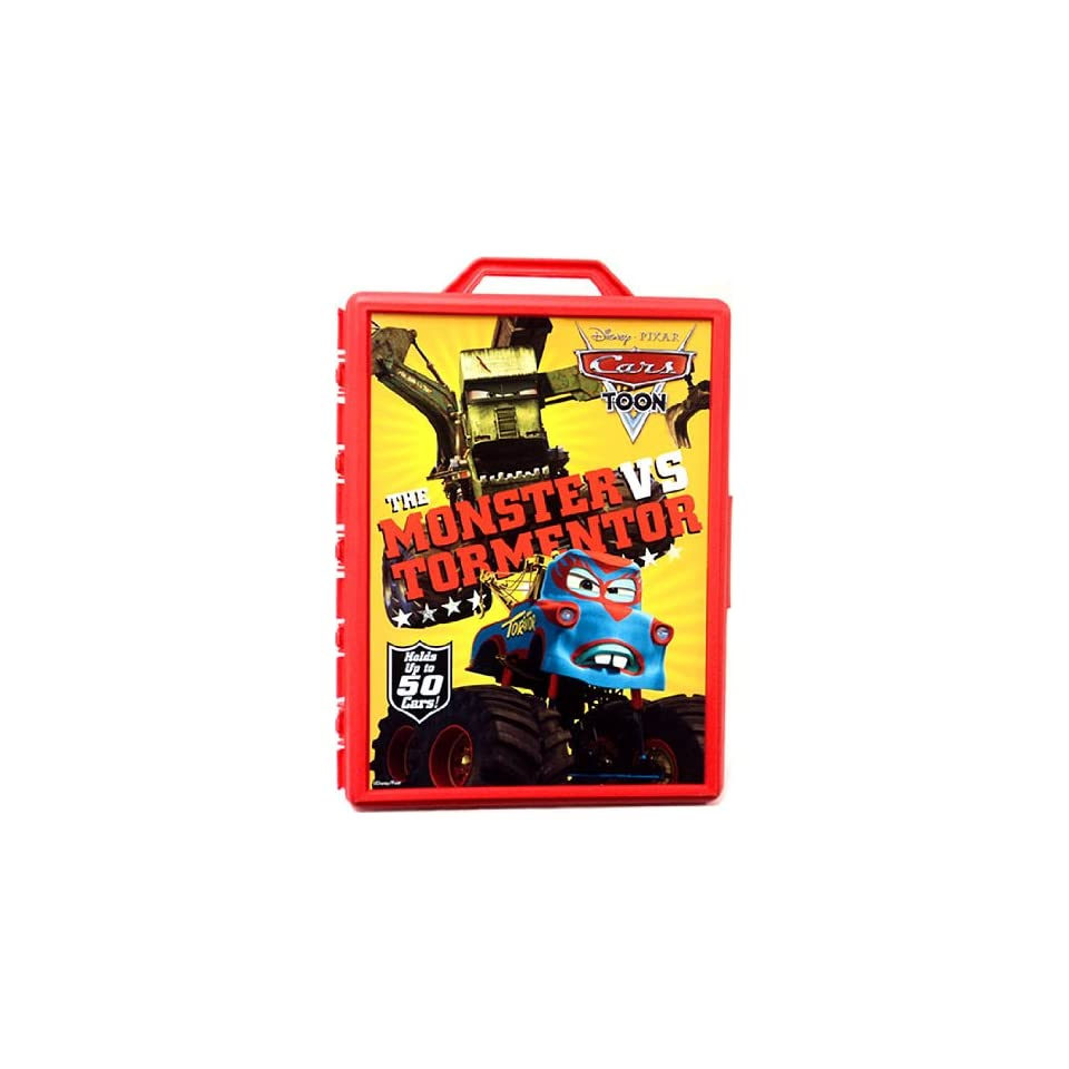 Disney / Pixar CARS TOON 155 Die Cast Car Carrying Case Holds Up To 50 Cars Monster Truck Mater Theme