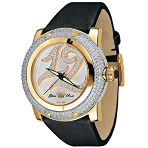 Glam Rock Women's GR80015 Special Edition Collection Diamond Accented Black Techno Watch