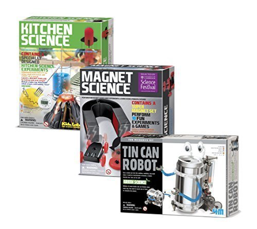 Tin Can Robot - Kitchen Science - Magnet Science Gift Bundle - 3 Pack by Universal Specialties (Soda Can Robug compare prices)