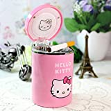 Hello Kitty Pink Car Auto Travel Smoke Cigarette Ashtray Ash Bin With Lid Cover And LED Light