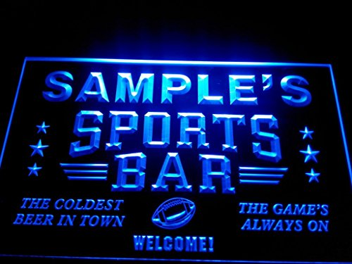 C B Signs Custom Personalized Led Sign Beer Pub Sports Bar Neon Light Sign - Great Personalized Gift Idea! - Blue