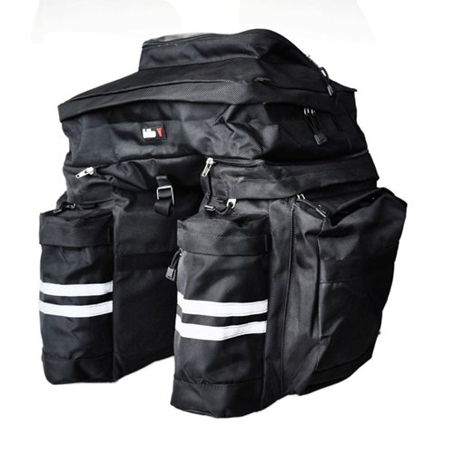 New Large Capacity Bicycle Trunk Bag Side Pannier Rear Seat Bag 4362
