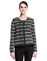 Autograph Bumble Stitch Knitted Jacket with Wool