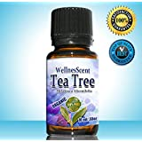 Tea Tree Essential Oil 100% Pure Certified Organic & Therapeutic Grade,Used in Aromatherapy - 10 ml Melaleuca